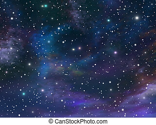 Image, illustration of the beautiful immense universe.