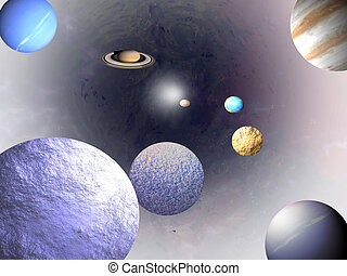 Universe - science backgrounds - Game planets