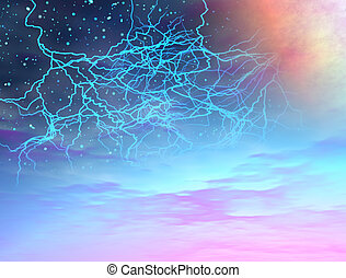 Universe storm - Image, illustration of a storm in the...