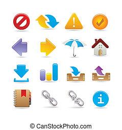 universeel, set, pictogram