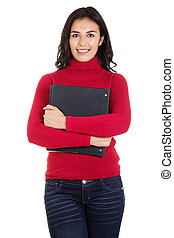 universidade, aluno feminino