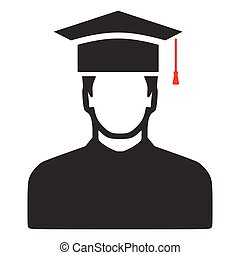 universidade, -, diploma, graduação, diplomados, vetorial, estudante, ícone, educação, símbolo.