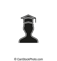 universidade, -, diploma, graduação, diplomados, vetorial, estudante, ícone, educação, símbolo