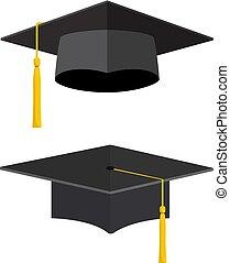università, accademico, cappucci graduazione