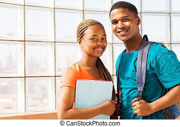 università, amici, africano
