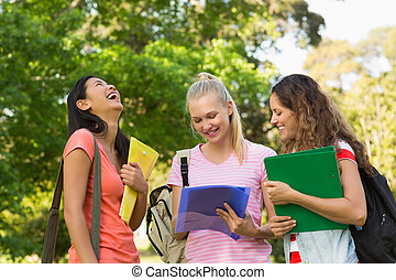 università, amici, università, femmina, felice