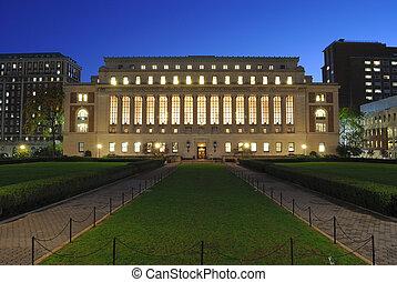 università, columbia, biblioteca
