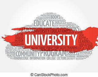 università, parola, nuvola