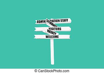 universität, herzlich willkommen, hochschule, zeichen