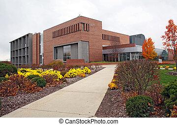 universität, zentrieren, schueler, campus