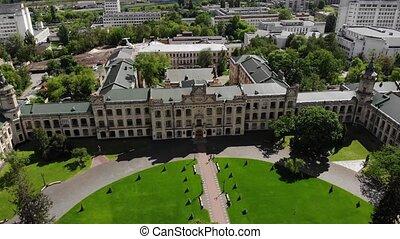 université, ancien, bâtiment