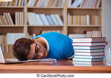 universiteit, examens, student, het bereiden