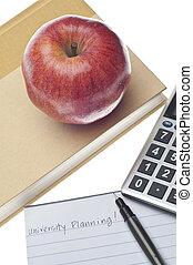 universiteit, planning, concept