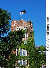 universiteit, van, michigan, unie, toren