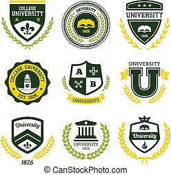 universitet, högskola, toppar