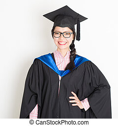 universitet studerande, akademisk examen dag