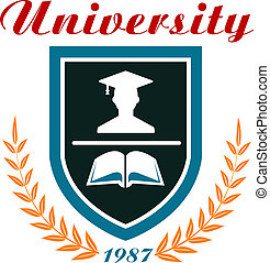 University badge or emblem