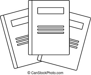 Dictionary book icon, outline style. Icon in outline style ...