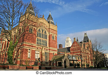 University campus of Leeds in the UK