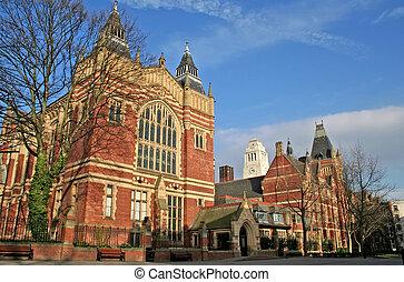 University campus of Leeds in the UK