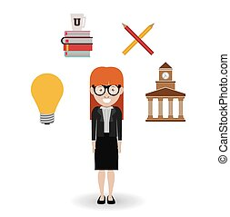 University design - Education concept: University icons...