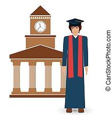 university education design, vector illustration eps10 ...