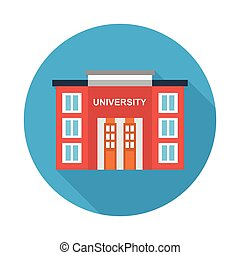 university flat icon