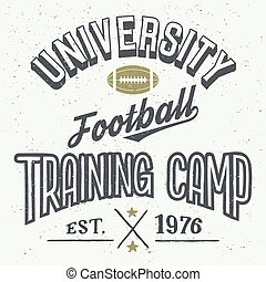 University football training camp t-shirt
