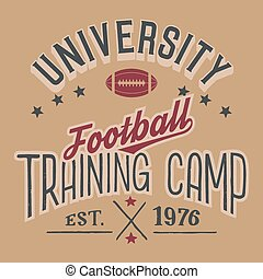 University football training camp