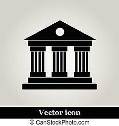 University Icon Isolated on grey Background