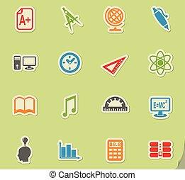 university icon set