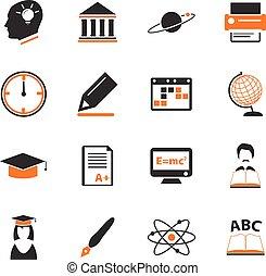 University icons set