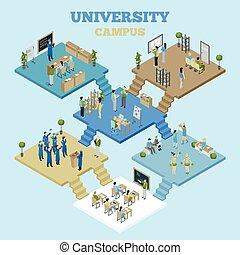 University Isometric Illustration