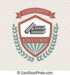 university label over dotted background vector illustration...