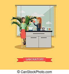 University laboratory vector illustration in flat style