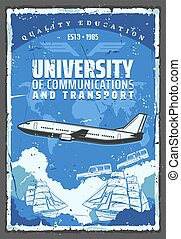 University of air, sea and earth transport