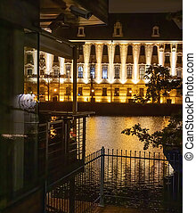 University of Wroclaw at night. Poland