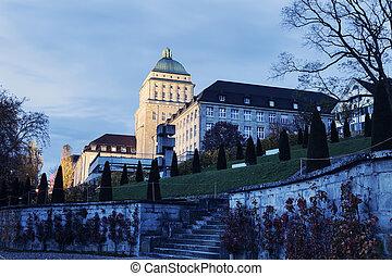 University of Zurich at dusk