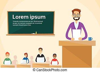 University Professor Lecture Speech Teacher College Class,...