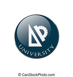 University Ruler and protractor icon