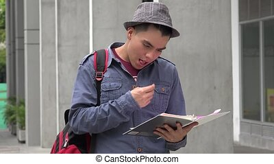 University Student Posing