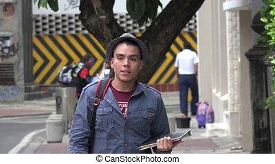 University Student Walking
