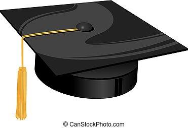 university traditional hat - traditional university black...