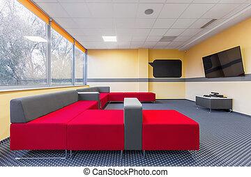 University tv room