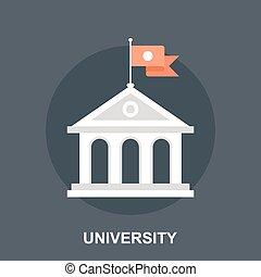 University - Vector illustration of university flat design ...