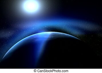 universo, galáxia, órbita