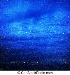 universo, llenado, con, estrellas
