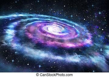 universo, plano de fondo, galaxia, colorido