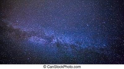 universo, via lattea, galassia, con, stelle, e, spazio, dust.