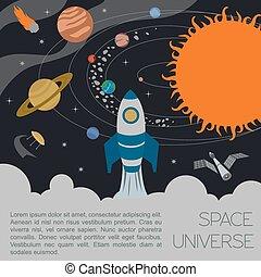 universum, infographic, raum